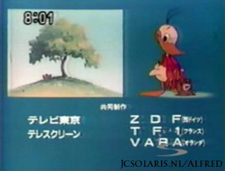Alfred J. Kwak - Outtro Outro Credits Extro End Ending - Megumi Hayashibara, 林原めぐみ - Happy happy - Alfred's Walk -  ハッピー・ハッピ